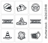 vector set of karting icons.... | Shutterstock .eps vector #362613548