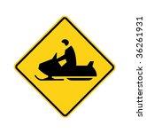 Road Sign   Snowmobiler