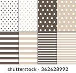 set of cute retro seamless big... | Shutterstock .eps vector #362628992