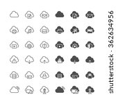 cloud computing icons  included ... | Shutterstock .eps vector #362634956