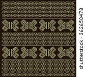 vintage nordic ornament. ethnic ... | Shutterstock .eps vector #362650478