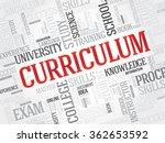 curriculum word cloud ... | Shutterstock . vector #362653592
