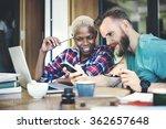 people friendship coffee break...   Shutterstock . vector #362657648
