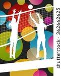women volleyball player... | Shutterstock .eps vector #362662625