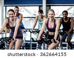 fit people working out at class ... | Shutterstock . vector #362664155