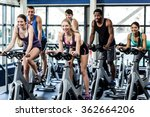 fit people working out at class ... | Shutterstock . vector #362664206