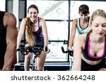 fit women working out at class... | Shutterstock . vector #362664248