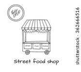 hand drawn sketch of street... | Shutterstock .eps vector #362666516