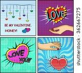 love set. comics style...   Shutterstock .eps vector #362667275