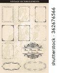 decorative vintage frames and...   Shutterstock .eps vector #362676566