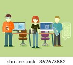 programmers team people group... | Shutterstock . vector #362678882