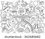 kindergarten design colorless... | Shutterstock . vector #362680682