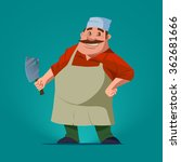 funny butcher  cartoon... | Shutterstock .eps vector #362681666