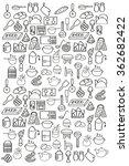kitchen pattern. food. kitchen... | Shutterstock .eps vector #362682422