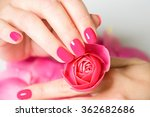 close up of female hands... | Shutterstock . vector #362682686