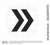 vector next arrow icon | Shutterstock .eps vector #362685455