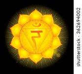 solar plexus chakra  manipura . ... | Shutterstock .eps vector #362694002