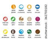 allergen icon set | Shutterstock .eps vector #362703182