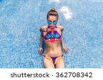 woman wearing bikini in... | Shutterstock . vector #362708342