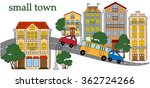 street of the small town with... | Shutterstock .eps vector #362724266