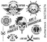 set of vintage pirate emblems ... | Shutterstock .eps vector #362726276