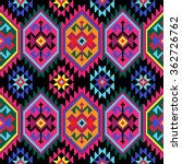 tribal seamless colorful... | Shutterstock .eps vector #362726762