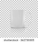 cup or mug white color. object... | Shutterstock . vector #362730305