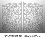 beautiful iron ornament gates | Shutterstock .eps vector #362732972
