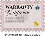 warranty template. complex... | Shutterstock .eps vector #362736332