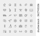 outline icon collection  ... | Shutterstock .eps vector #362743106
