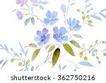 floral hand made design | Shutterstock . vector #362750216