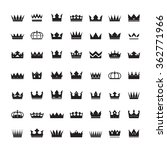 set of black vector crowns and... | Shutterstock .eps vector #362771966