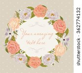 floral frame. beautiful... | Shutterstock .eps vector #362774132