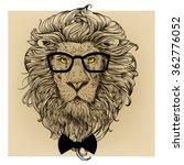 lion character portrait   Shutterstock .eps vector #362776052