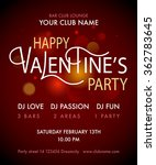 happy valentine's day party... | Shutterstock .eps vector #362783645