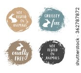 vector set of 'not tested on... | Shutterstock .eps vector #362787872