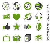 entertainment icons set | Shutterstock .eps vector #362788196