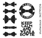 Illustration Set Of Bow Tie In...