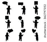 child vector with speech bubble ... | Shutterstock .eps vector #362797352