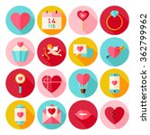 happy valentines day circle... | Shutterstock .eps vector #362799962