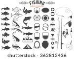 Set Of Fishing Club Logo...