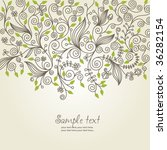 floral background  greeting card | Shutterstock .eps vector #36282154