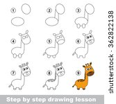 drawing tutorial. how to draw a ...   Shutterstock .eps vector #362822138