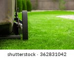 lawn mower on green grass | Shutterstock . vector #362831042