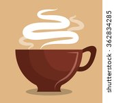 delicious coffee drink  | Shutterstock .eps vector #362834285