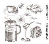 vector vintage hand drawn set... | Shutterstock .eps vector #362838806