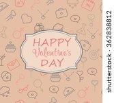 valentine s day vintage card... | Shutterstock .eps vector #362838812