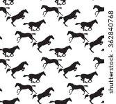 black horse seamless pattern on ... | Shutterstock .eps vector #362840768