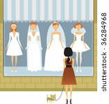 wedding dress salon   Shutterstock .eps vector #36284968