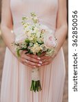 bride in pink dress holding... | Shutterstock . vector #362850056